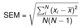 Calculate Standard Error in Excel