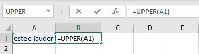 upper case formula