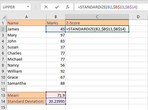 z score single formula