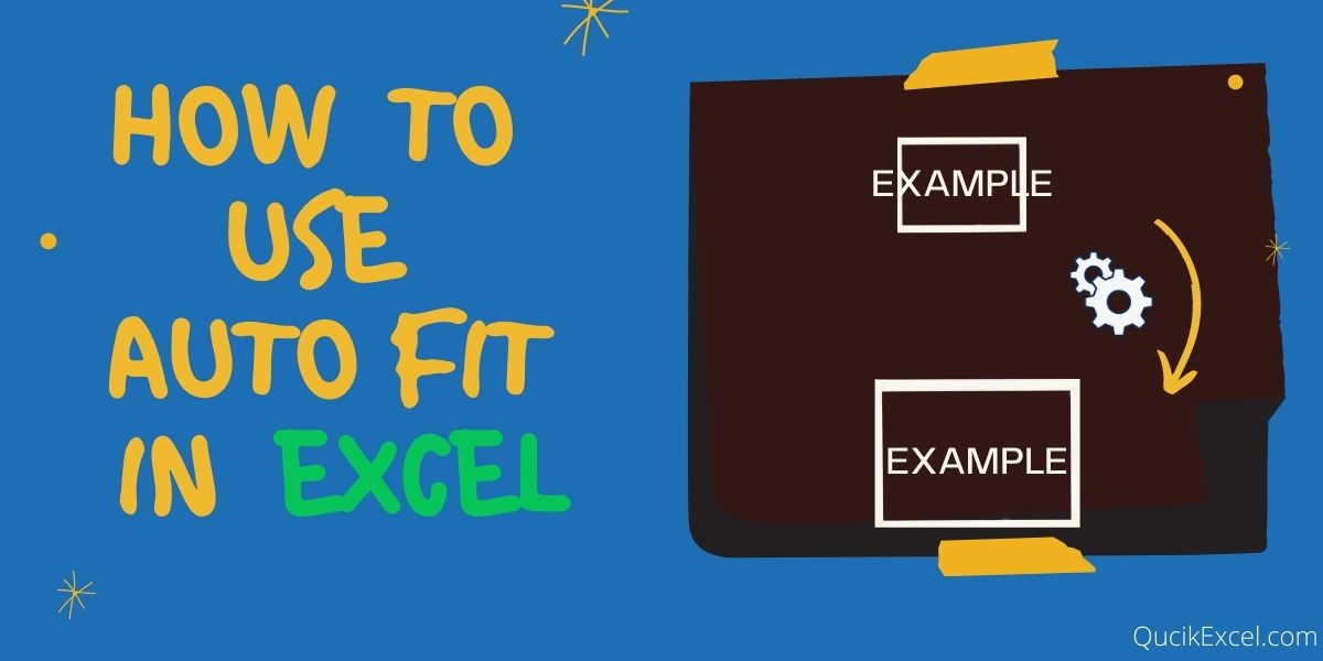 How to use auto fit in Excel