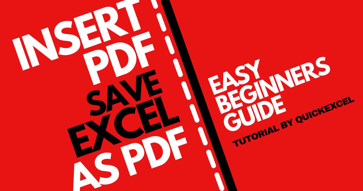 INSERT PDF SAVE EXCEL AS PDF