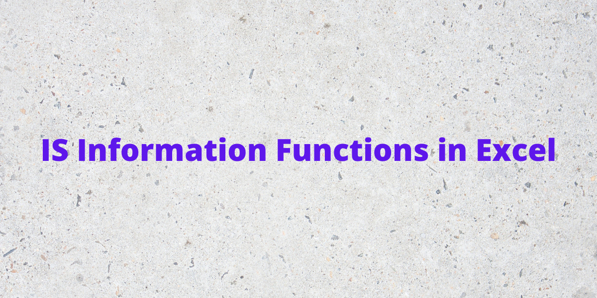 IS Information Functions in