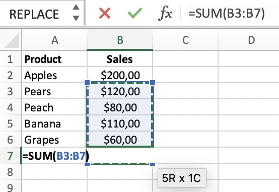 Circular Reference Error in Excel