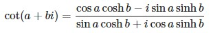 cotangent formula