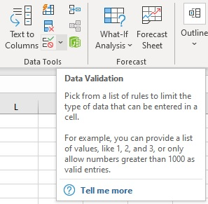 Data Validation in Excel - A Brief Introduction