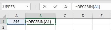 dec2bin formula