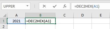dec2hex formula
