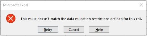 error warning 1