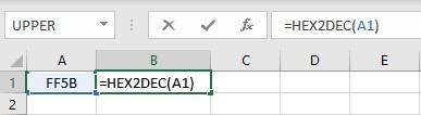 hex2dec formula