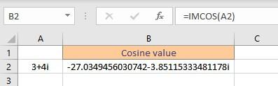trigonometric functions in Excel