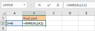 Basic Mathematical Operations on Complex Numbers in Excel