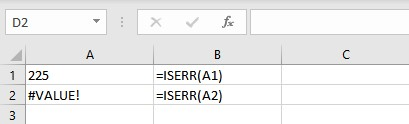 IS Functions in Excel