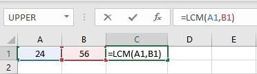 lcm formula