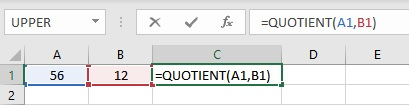 quotient formula