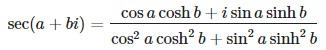 secant formula
