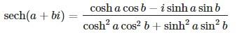 sech formula