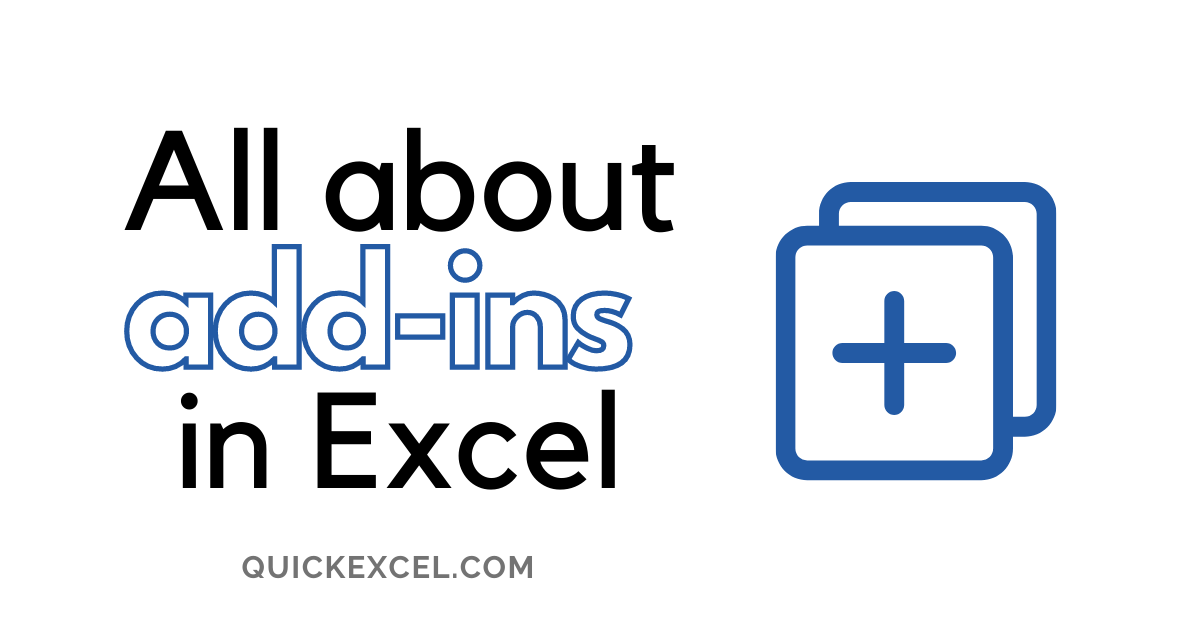 ADDINS IN EXCEL