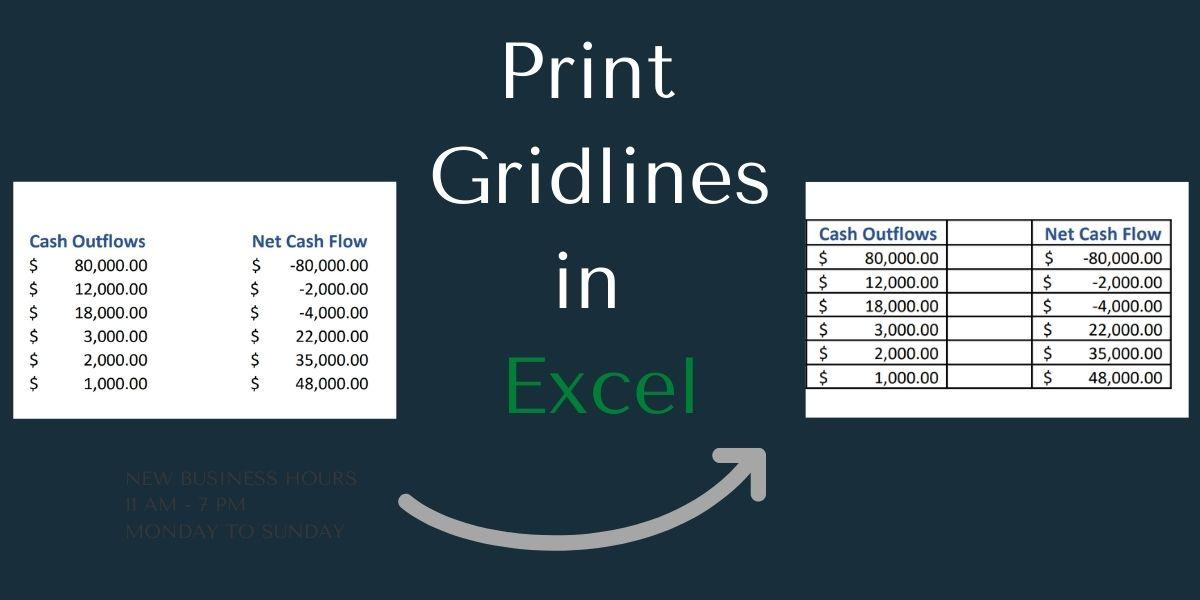 print gridlines in Excel