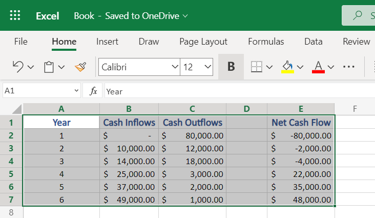 Selecting cells to apply Borders in Excel