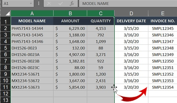 Swapping multiple columns in Excel