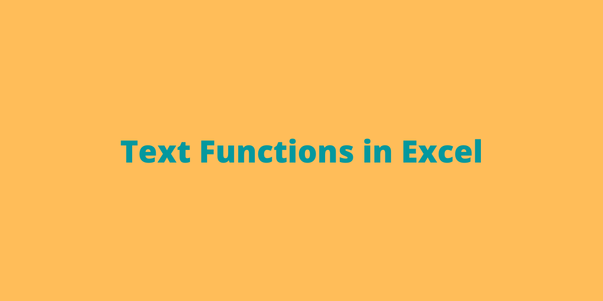 Text Functions in