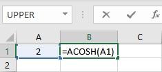 acosh formula