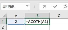 acoth formula