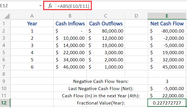 Calculate Year Fractional Value in Excel