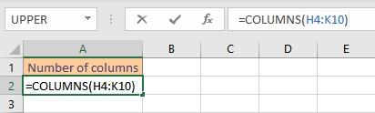 columns formula