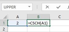 csch formula