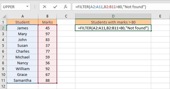 filter formula