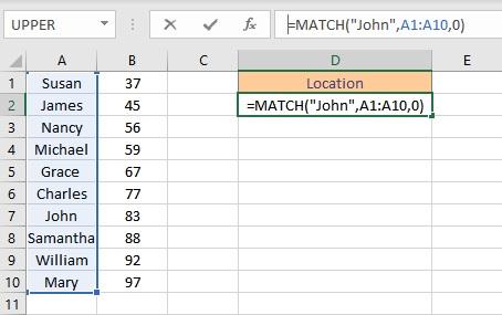 match formula