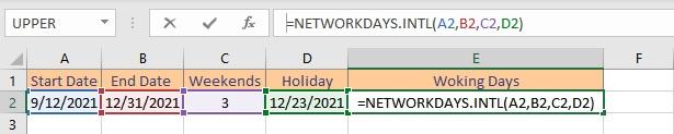 networkdaysintl formula