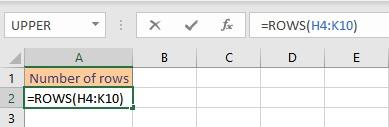 rows formula