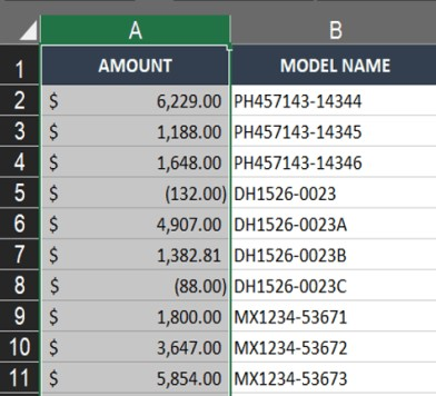 One column swapped using drag and drop in Excel