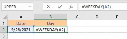 weekday formula