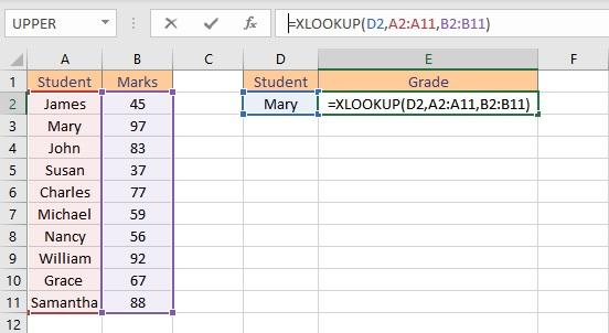 xlookup formula