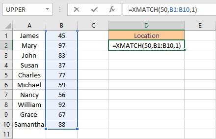 xmatch formula